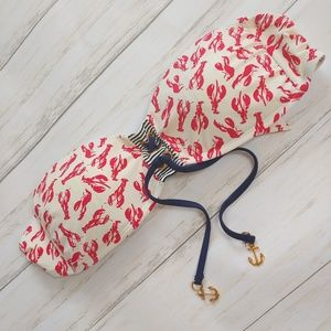 SPERRY TOP SIDER Lobster Print Bikini Swim Top XS